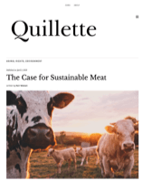 Link to Article in Quillette: The Case For Sustainable Meat (click to read)